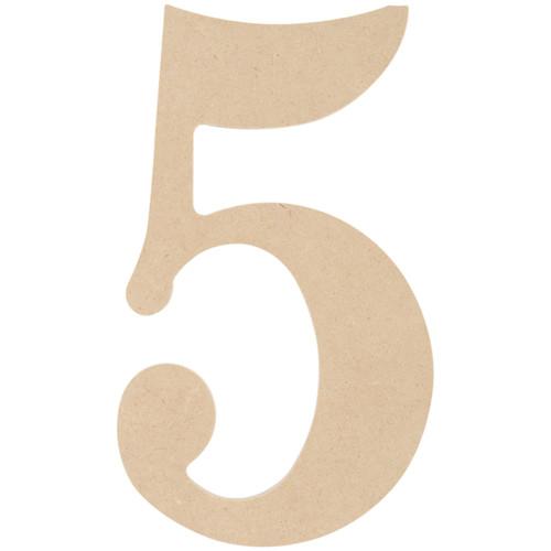 "MDF Classic Font Wood Letters & Numbers 9.5""-5 -MDF9-L431 - 886946148101"