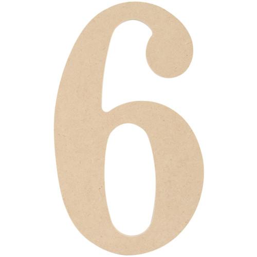 "MDF Classic Font Wood Letters & Numbers 9.5""-6 -MDF9-L432 - 400100654149"