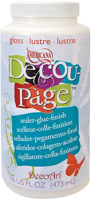 Americana Decou-Page Glue-16oz Gloss -DS10165 - 766218050953