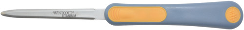"Titanium Bonded Letter Opener 4"" Blade-Grey & Orange -16450"