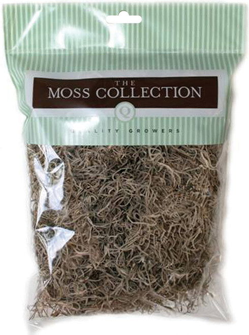 Quality Growers Preserved Spanish Moss 108.5 Cubic Inches-Natural -QG1500 - 740657050040