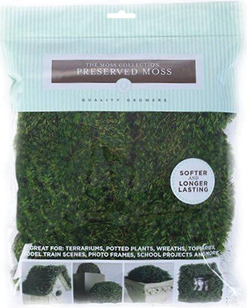 Quality Growers Preserved Moss 112.5 Cubic Inches-QG1438 - 740657071014