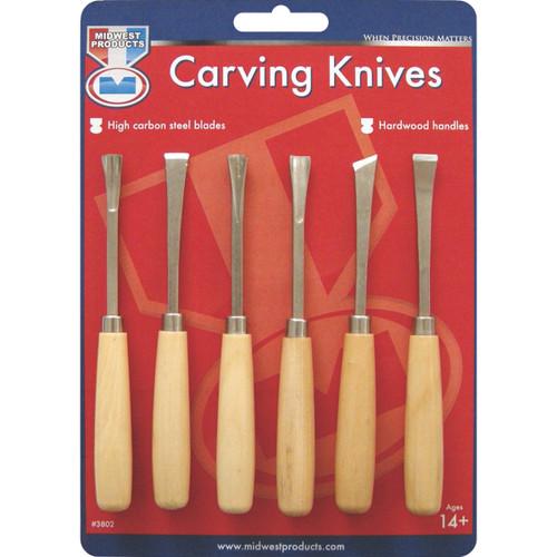 Carving Knife Set-6/Pkg -3802 - 091157038022
