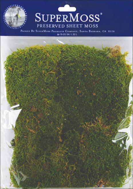 Super Moss Preserved Sheet Moss 2oz-Green -FS21550 - 759834215509