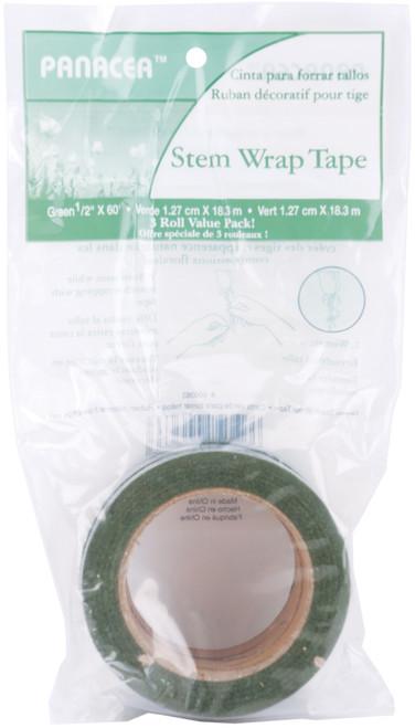 "Stem Wrap Tape .5""X60' 3/Pkg-Green -600363 - 093432003633"