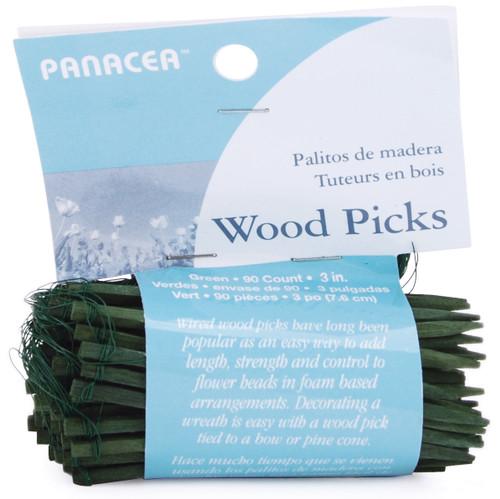 """Wood Picks 3"""" 90/Pkg-Green -60043 - 093432600436"""