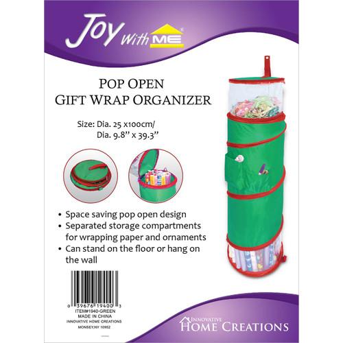 "Pop Open Gift Wrap Organizer-39.3""X9.8"" -IHC1940 - 039676194003"