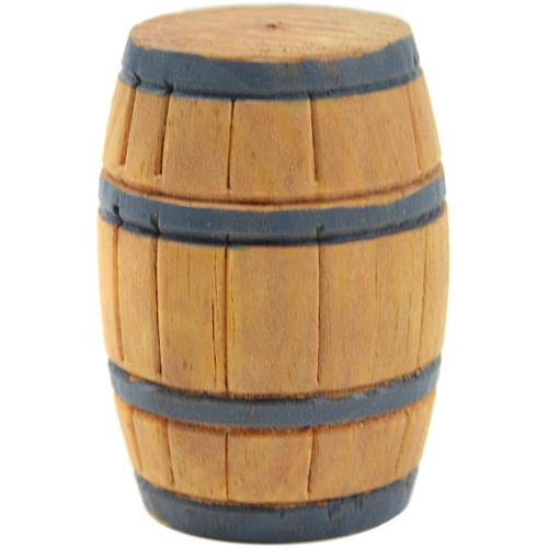 "Mini Garden Barrel 1.25""X2""-Wood -MD50440"