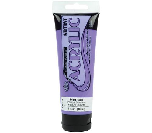 essentials(TM) Acrylic Paint 4oz-Bright Purple -RAA-149 - 090672063618