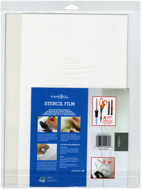"Impress Stencil Films 6/Pkg-10""X14"" -5SF1014"