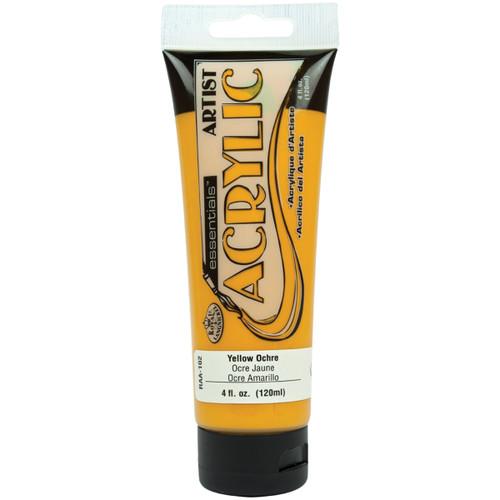 essentials(TM) Acrylic Paint 4oz-Yellow Ochre -RAA-102 - 090672304322