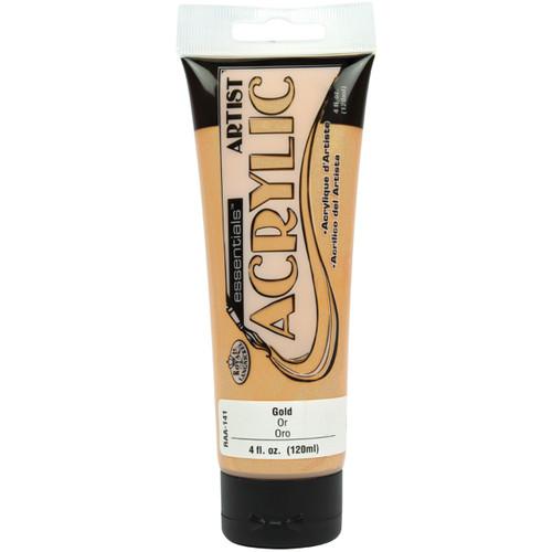 essentials(TM) Acrylic Paint 4oz-Gold -RAA-141 - 090672063533