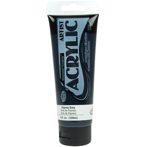essentials(TM) Acrylic Paint 4oz-Payne's Gray -RAA-142 - 090672063540