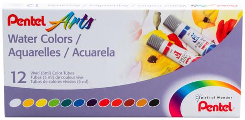 Watercolor Paints 5ml 12/Pkg-Assorted Colors -WFRS-12 - 072512245682