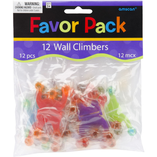 Party Favors 12/Pkg-Wall Climbers -390162 - 048419410454