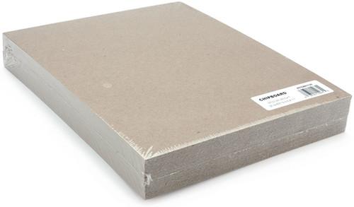 """Grafix Medium Weight Chipboard Sheets 8.5""""X11"""" 25/Pkg-Natural -CB81125 - 096701140855"""