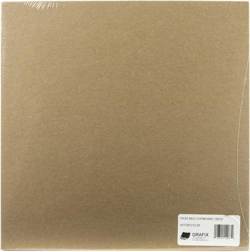 """Grafix Medium Weight Chipboard Sheets 12""""X12"""" 25/Pkg-Natural -CB121225 - 096701140879"""