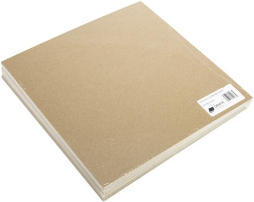 """Grafix Medium Weight Chipboard Sheets 12""""X12"""" 25/Pkg-Natural -CB121225"""