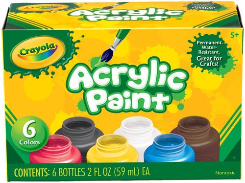 Crayola Acrylic Paint Set 2oz 6/Pkg-20-1997 - 071662319977