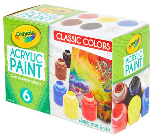 Crayola Acrylic Paint Set 2oz 6/Pkg-20-1997