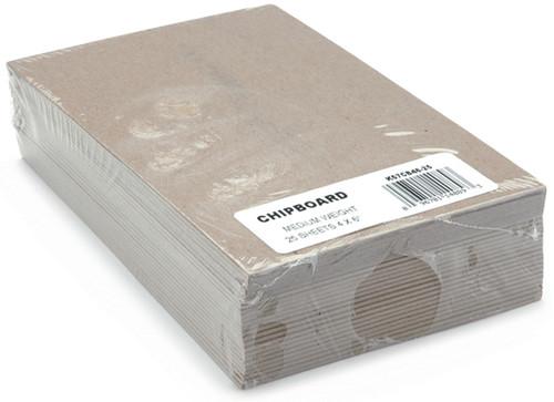 """Grafix Medium Weight Chipboard Sheets 4""""X6"""" 25/Pkg-Natural -CB4625 - 096701140893"""