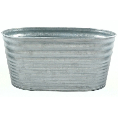 """Galvanized Tin Oblong Container-9""""X4"""" -M50256 - 684653502564"""