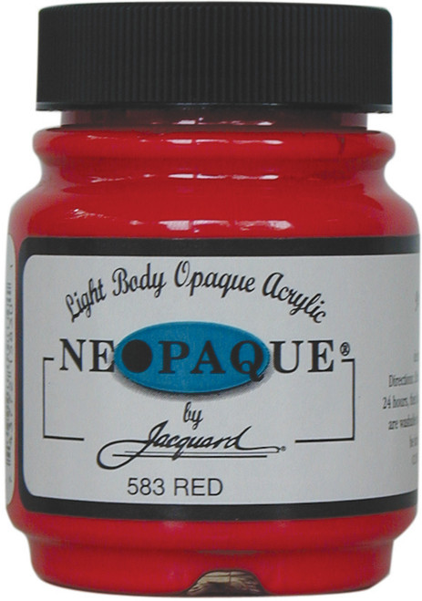 Jacquard Neopaque Acrylic Paint 2.25oz-Red -NEOPAQUE-583 - 743772158301