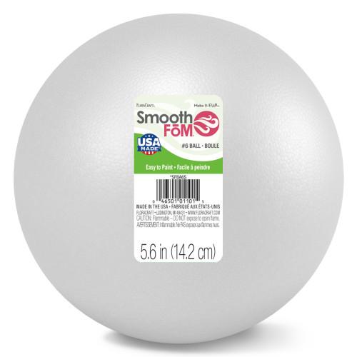 "Smooth Styrofoam Balls 6""-SFBA6S - 046501011015"