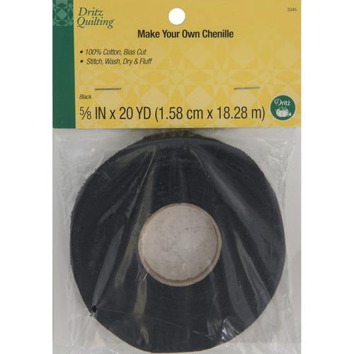"Dritz Quilting Make-It Chenille .625""X20yd-Black -DQ3345 - 072879033458"