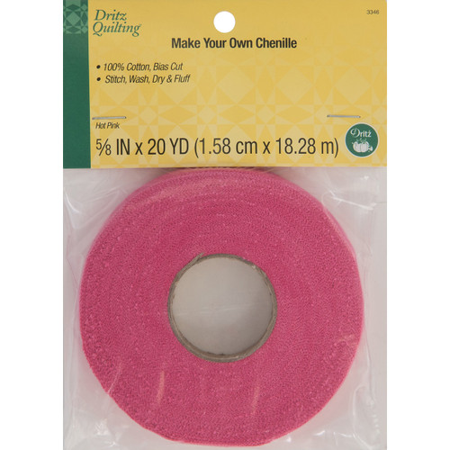"""Dritz Quilting Make-It Chenille .625""""X20yd-Hot Pink -DQ3346 - 072879033465"""