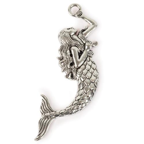 Steampunk Metal Pendant -Mermaid -STEAM248