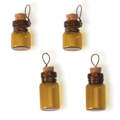 Steampunk Glass Accents 4/Pkg-Poison Bottle -STEAM091
