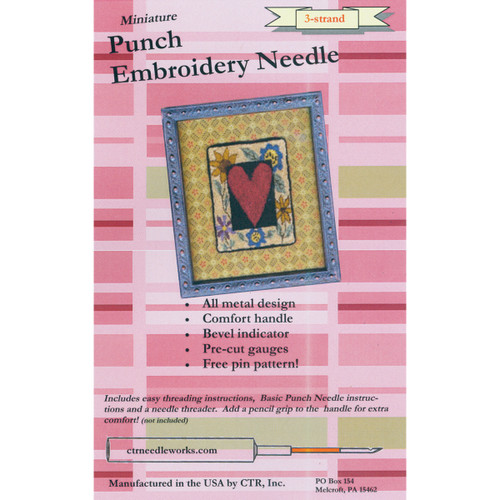CTR Needleworks Miniature Punch Embroidery Needle-Red 3-Strand -CTR-NDL-2 - 851509007010