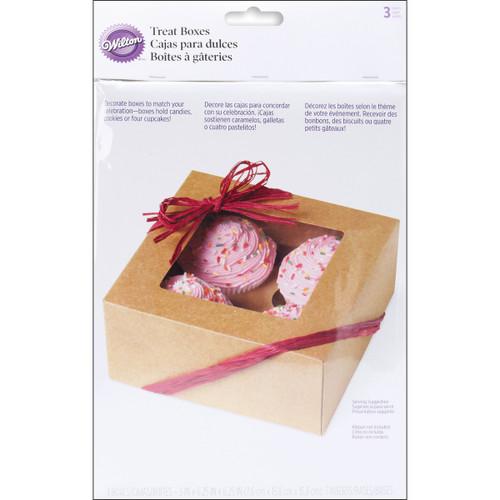 Cupcake Boxes-4 Cavity Kraft 3/Pkg -W4150953 - 070896309532