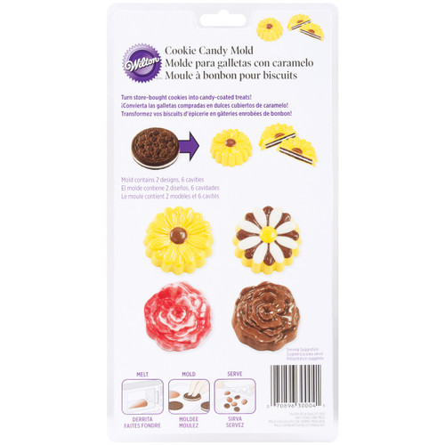 Cookie & Candy Mold-Daisy & Rose 6 Cavity (2 Designs) -W0004 - 070896300041