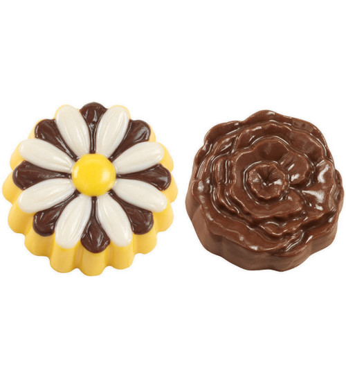 Cookie & Candy Mold-Daisy & Rose 6 Cavity (2 Designs) -W0004