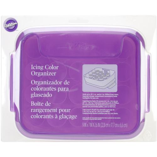 """Icing Color Organizer-9""""X7""""X2.5"""" Purple & White -W4058783 - 070896387837"""