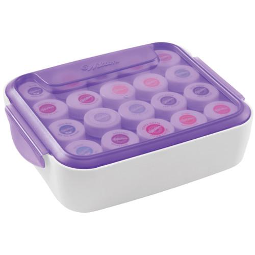 """Icing Color Organizer-9""""X7""""X2.5"""" Purple & White -W4058783"""