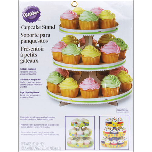 """Cupcake Stand-White 12""""X10.5"""" Holds 24 Cupcakes -W1512127 - 070896152275"""