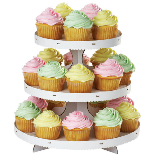 """Cupcake Stand-White 12""""X10.5"""" Holds 24 Cupcakes -W1512127"""