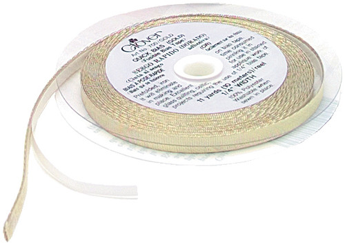 "Clover Quick Bias Fusible Bias Tape .25""X11yd-Gold Lame' -700-G"
