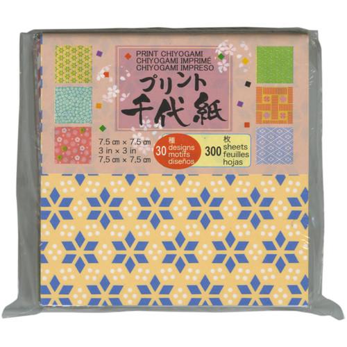 "Origami Paper 3""X3"" 300/Pkg-Mini Print -PC3-300 - 762867110345"