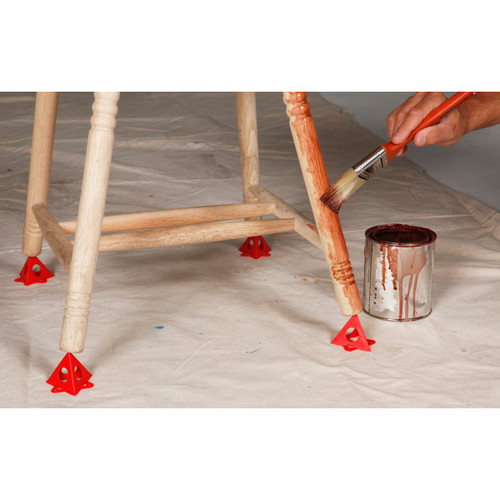 Painter's Pyramid Stands 10/Pkg-Red -KM1240