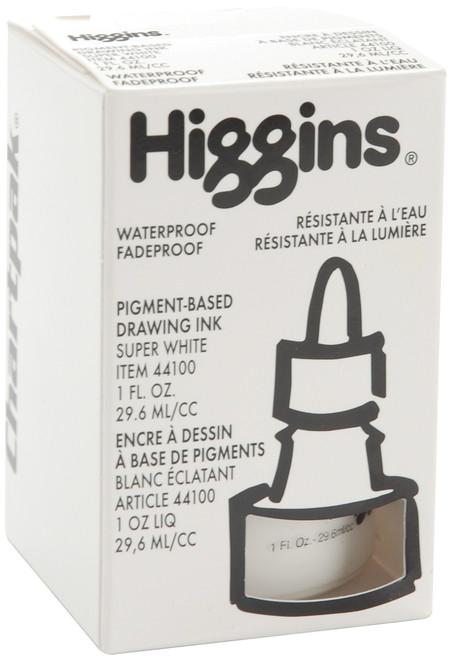 Higgins Super White Ink 1oz-H44100 - 014173368683