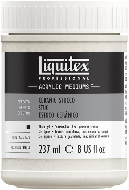 Liquitex Ceramic Stucco Acrylic Texture Gel-8oz -6408 - 094376924367