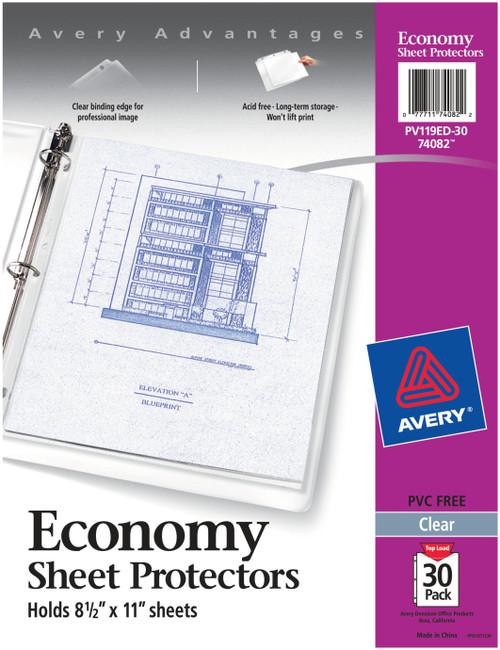 Avery Economy Clear Sheet Protectors 30/Pkg-Acid-Free -74082 - 077711740822