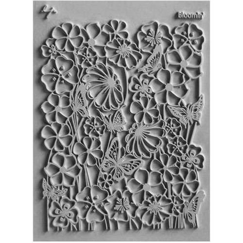 "Lisa Pavelka Individual Texture Stamp 4.25""X5.5""-Bloomin' -LP527-063"