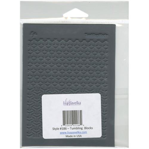 "Lisa Pavelka Individual Texture Stamp 4.25""X5.5""-Tumbling Blocks -LP527-186 - 810444021864"