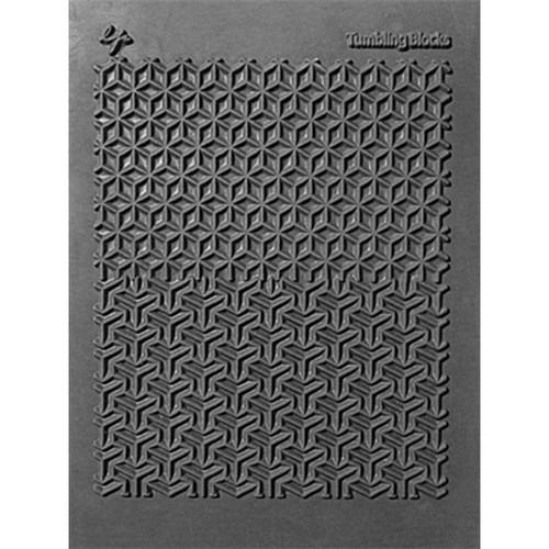 "Lisa Pavelka Individual Texture Stamp 4.25""X5.5""-Tumbling Blocks -LP527-186"