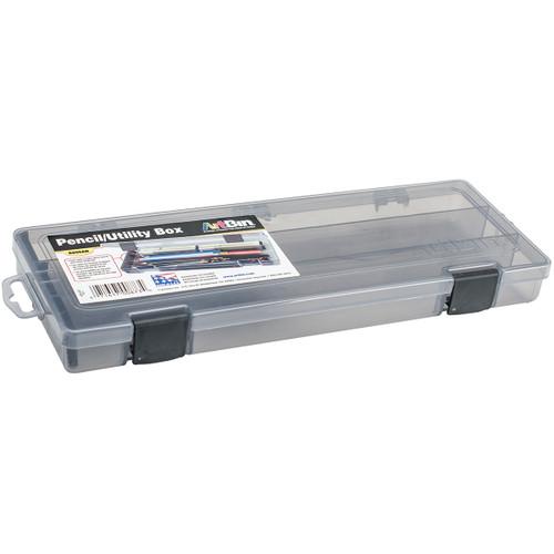 "ArtBin Pencil Box-12.38""X4.875""X1.75"" Translucent Charcoal -6900AB"